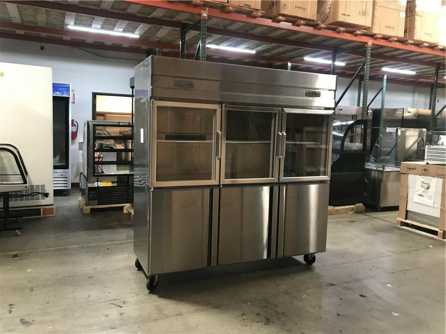 """72"""" Commercial 6 Refrigerator Reach In Upright NEW"""