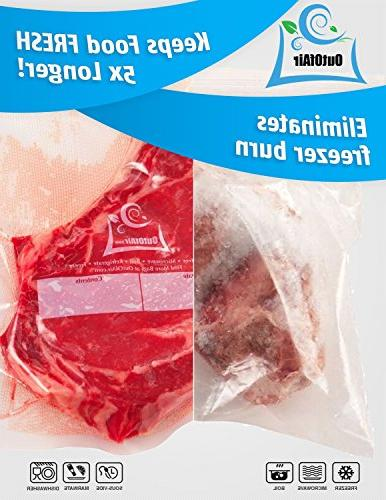 "11"" x - Vacuum Sealer Foodsaver Savers. 33% Thicker, BPA Free, FDA Vide, Commercial Grade"