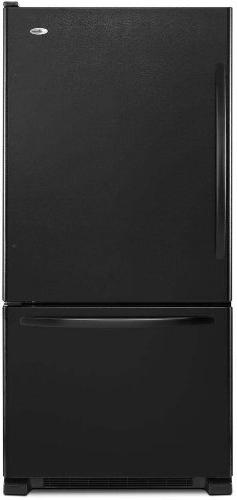 Amana - 18.5 Cu. Ft. Bottom-freezer Refrigerator - Black
