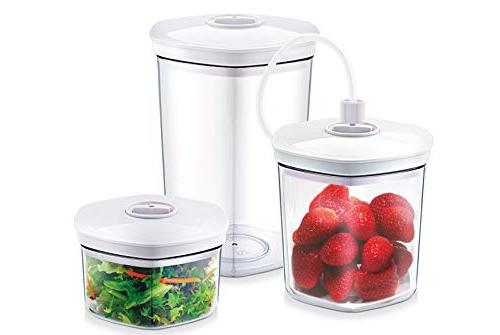 CASO Germany Vacuum Sealer Canister, Set of 3