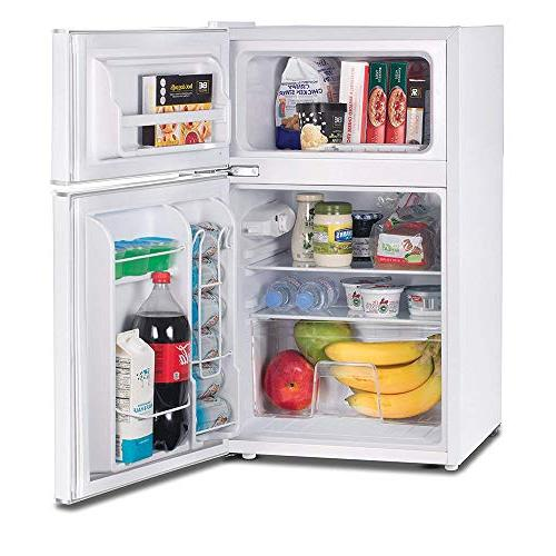 Commercial Cool Compact Double Refrigerator True Freezer, Ft. Mini White