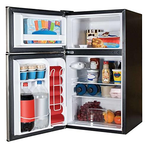 Haier cu Refrigerator, Steel for Garage, Gameroom, with Freezer Compartment for Cold Food and Frozen