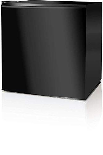 Midea Single Reversible Door Refrigerator, 1.6 Cubic Feet, Black
