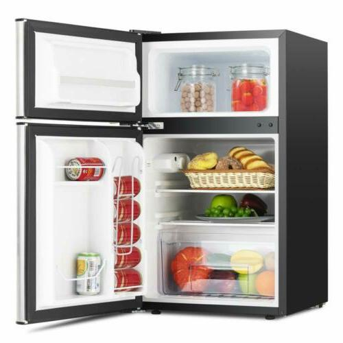 3.2 Stainless Double Mini Compact Refrigerator