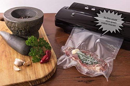 Nutri-Lock Vacuum Sealer 2 Pack 11x50 Commercial Grade Bag FoodSaver, Vide