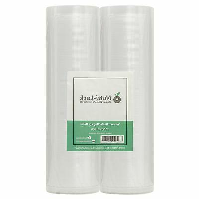 Nutri-Lock Vacuum Sealer Bags. 2 Pack 11x50 Commercial Grade
