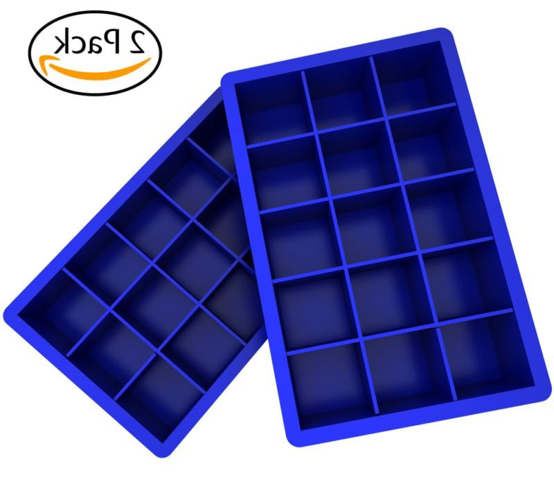 Ozera Pack Ice Candy Mold Mold Chocolate 15 Cavity, Blue