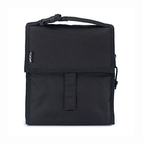 PackIt Freezable Lunch Bag with Zip Closure, Black