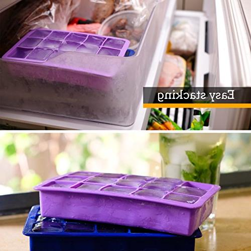 Perfect Cube Tray, Set 2, FREEZERS,No Odor Aftertaste!