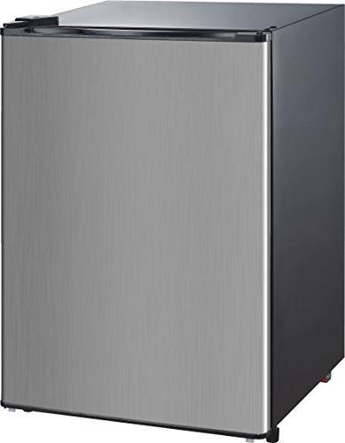 RCA-Igloo Cubic Foot Fridge, Stainless Steel