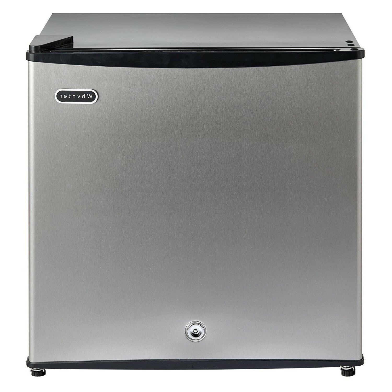 Small Stainless Steel 1.1CuFt Upright Freezer W/ Lock Kitche