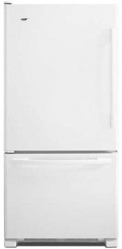 Amana ABB2224BRW 21.9 Cu. Ft. White Bottom Freezer Refrigera