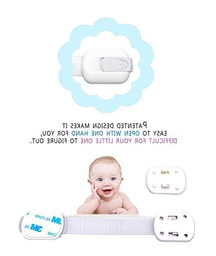 WONDERKID Quality Reusable Child Safety - Latches to Proof Cabinets, Doors Appliances