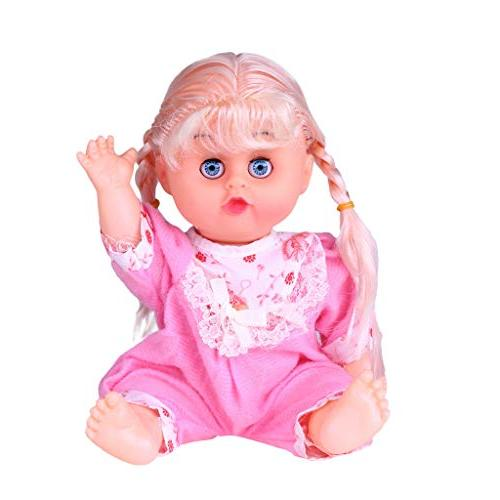 AMOFINY Baby Zw0041 Large Simulation Cute Baby Doll Blinking Eyes Movable & Sounds Kids Toy