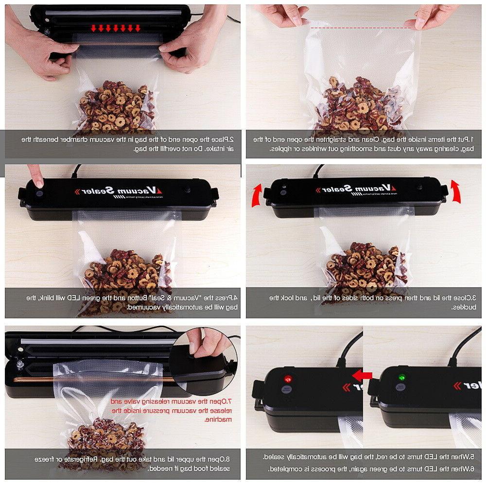 Automatic Food Saver Sealer Machine With 15PCS