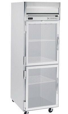 Beverage-Air HF1-1HG 24 CuFt Horizon Series Glass 2-Door Rea