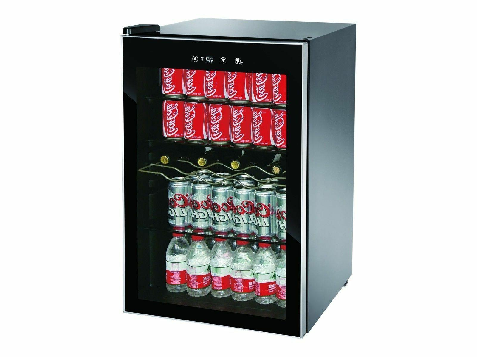 beverage center refrigerator cooler glass door mini