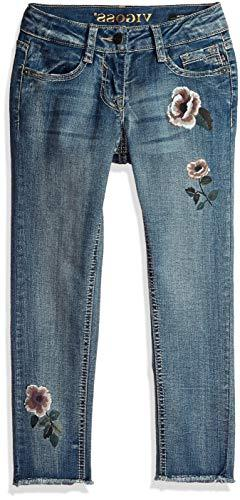 VIGOSS Girls' Big Fashion Jean, Rose Freezer Blue, 8