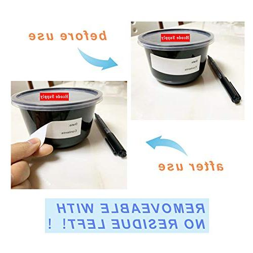 Hcode Removable Cooler Food Stickers Adhesive Restaurant Labels Roll