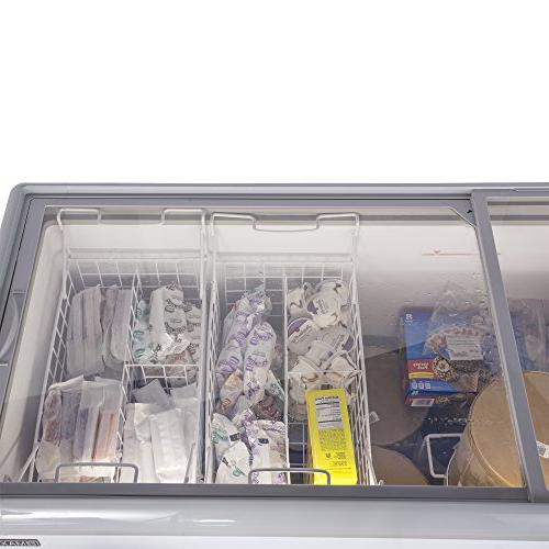 Chef's CE206 Frost Free Sub Mobile Cream Chest Freezer 20 Cubic Feet 71