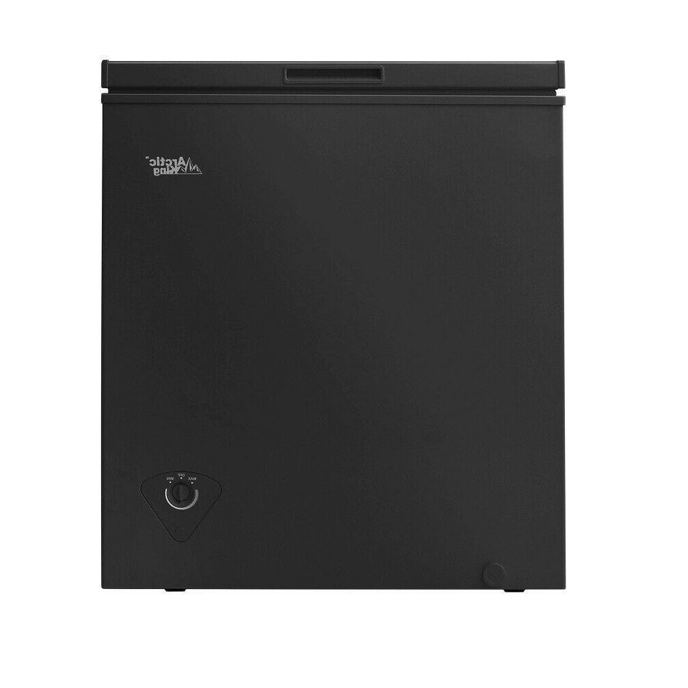 Chest Freezer Cu Ft Food Storage Fridge With Basket, Black NEW