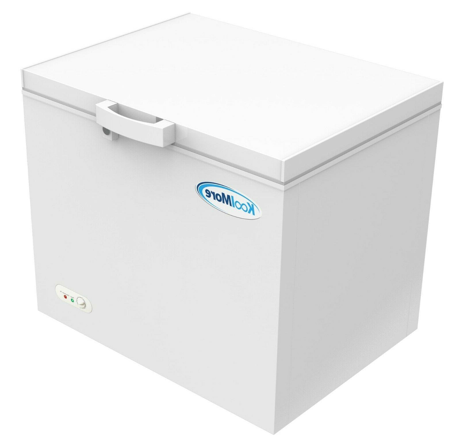 Chest Freezer 10 Ft. Adjustable For Home/Commercial White
