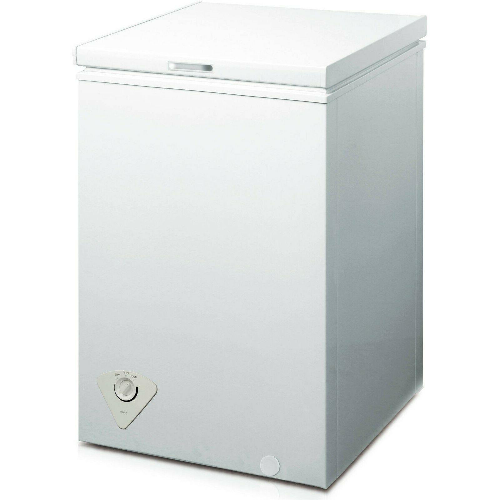 Chest Freezer Storage Ice Deep Freeze 3.5 Cu Ft Quick Defros