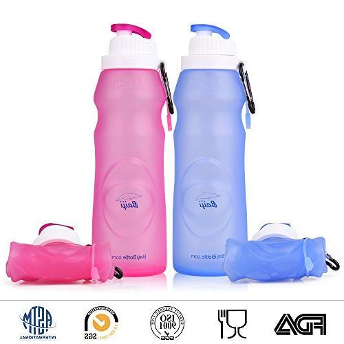 collapsible silicone water