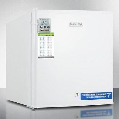 compact all freezer with lock white medical
