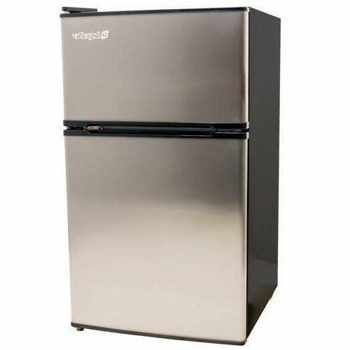 compact fridge freezer stainless steel 3 1