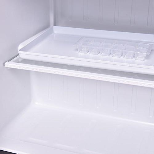 Costway Compact Refrigerator and Freezer With Single Door Cooler Fridge,1.7