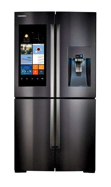 Samsung Black Stainless Steel 4-Door Refrigerator Family Hub