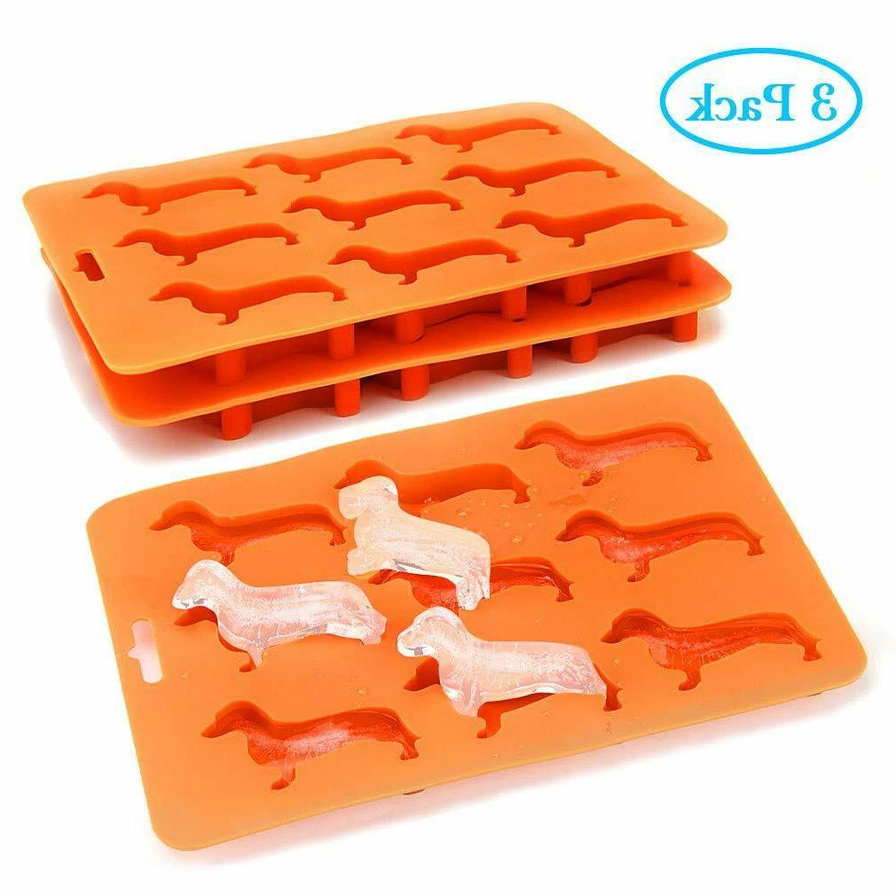 Dachshund Ice Freezer Tray Candy Ice 3