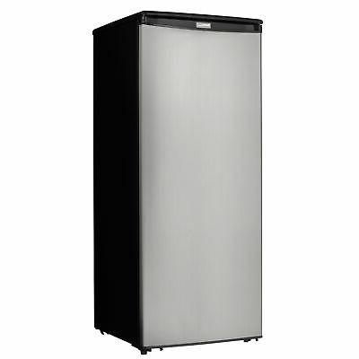 designer dufm085a4bsldd upright freezer stainless