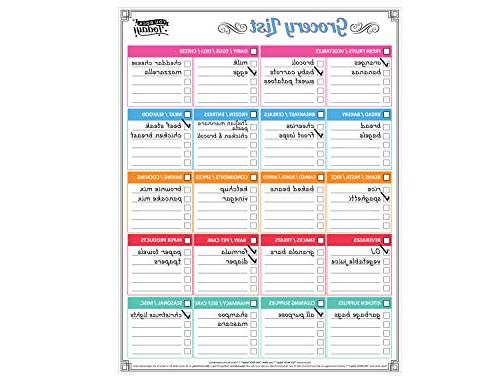 Dry Erase Calendar and Grocery Strong + 8 Free Magnetic Eraser Whiteboard Planner Fridge Home, Office School