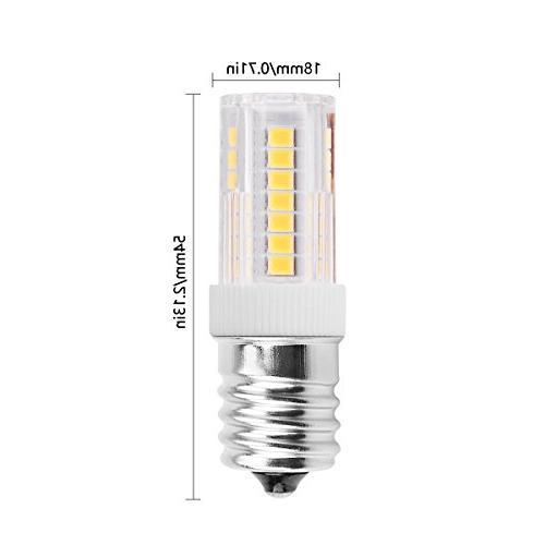 Smartinliving E17 LED Light Bulbs, Intermediate Base Oven Lighting, Pack
