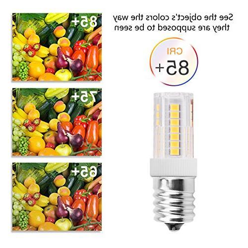 Smartinliving E17 Light Daylight White Lamp, AC Intermediate Base for Microwave Oven Light Appliance, Lighting,