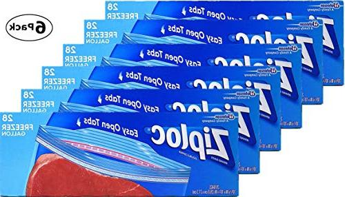 easy open tabs freezer bags