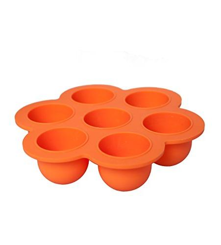 REDNOLIA Food Freezer Tray with Clip-on | Best Silicone Food Homemade Baby and | 7 x 2.5 OZ BPA-FREE