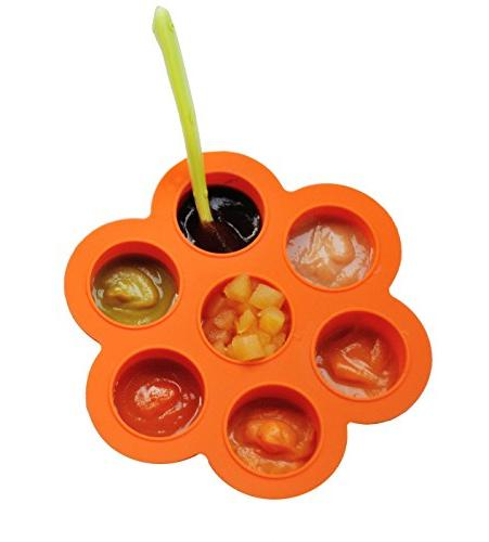 REDNOLIA Food Tray Lid   Homemade Baby Food and BreastMilk x OZ   BPA-FREE   Orange