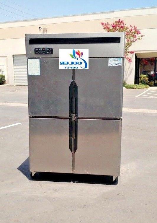 four door refrigerator freezer r32 commercial cooler