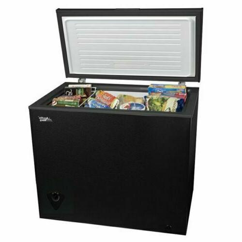 freeze 7 cu ft chest freezer black