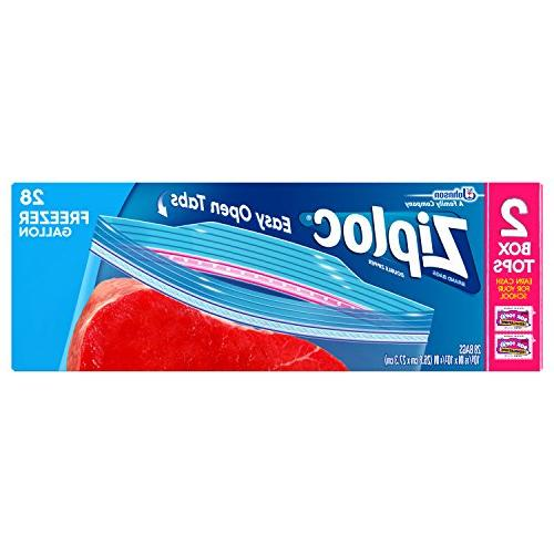 Ziploc Freezer Bags Value Pack, Gallon, 28 ct