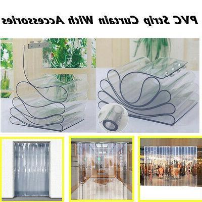 Freezer Room PVC Plastic Strip Door Kit Hanging Rail