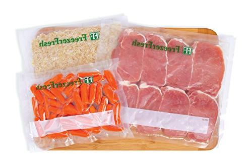 100 – Fresh Size Commercial Grade Vacuum Individual Bags. Storage Bags Compatible with FoodSaver, Vide