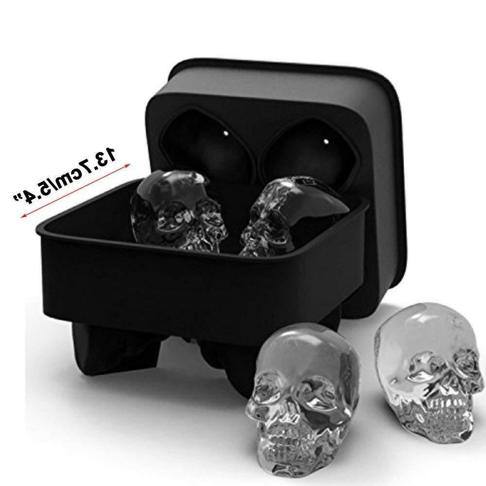 ice cube tray mold skull skulls silicone