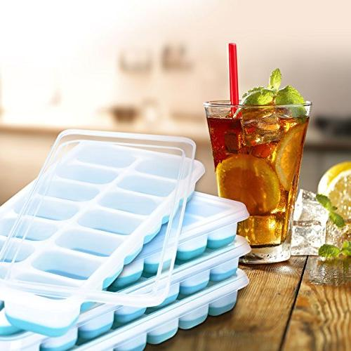 OMorc Cube 4 Pack, and with Spill-Resistant Removable Lid, LFGB & Free, Stackable