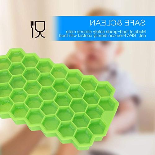 Ice Cube Grade 74 Trays Spill-Resistant Ice Cube Molds Whiskey