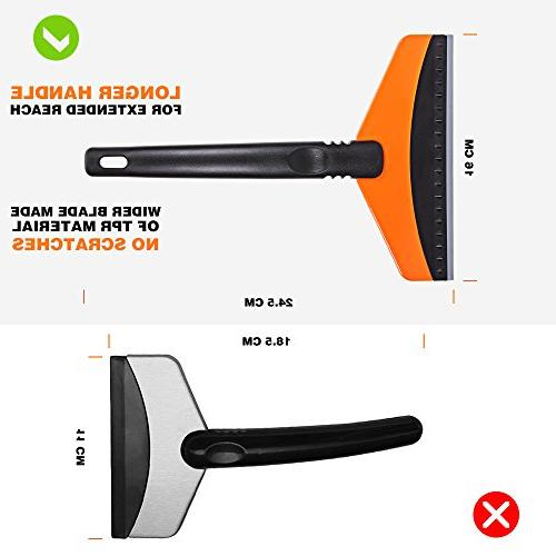 Ice Scraper for Car, Windshield for Window Scraper for Small Truck Ice Cleaner Snow Scrapper for Heavy-duty Snow Scraping