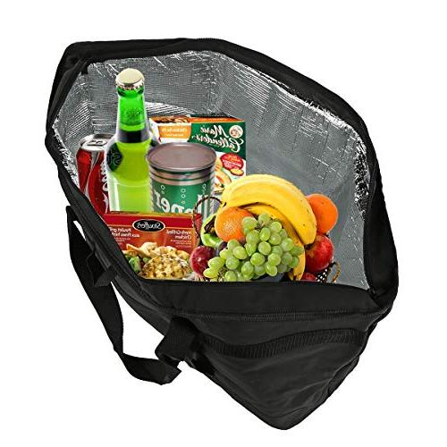 2 Large 5 Gallon Bag Collapsible Travel Carry Basket, Outdoor Picnic